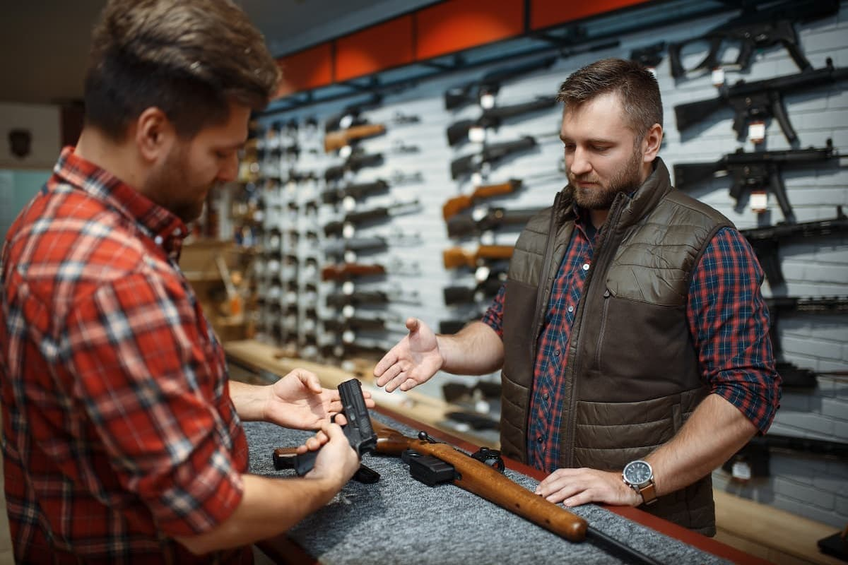 Man Buying a Gun